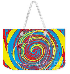 Weekender Tote Bag featuring the painting Boo Hearted by Catherine Lott