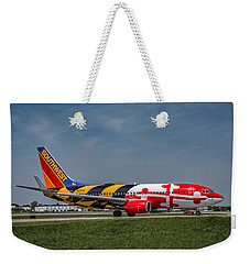 Boeing 737 Maryland Weekender Tote Bag by Guy Whiteley