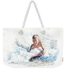 Boogie Boarding Weekender Tote Bag