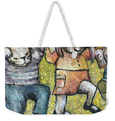 Weekender Tote Bag featuring the painting Boogy Woogy by Eleatta Diver