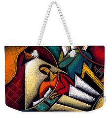 Book Weekender Tote Bag by Leon Zernitsky