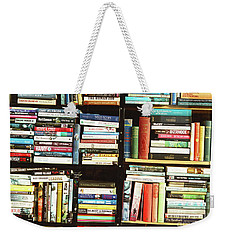 Weekender Tote Bag featuring the photograph Book Shop by Rebecca Harman