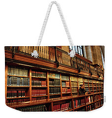 Weekender Tote Bag featuring the photograph Book Worm by Jessica Jenney