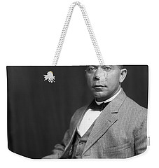 Weekender Tote Bag featuring the painting Booker T. Washington by Artistic Panda