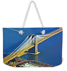 Booklyn And Manhattan Bridges Weekender Tote Bag
