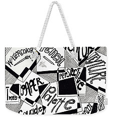 Books And Words Weekender Tote Bag