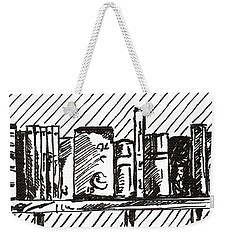 Bookshelf 1 2015 - Aceo Weekender Tote Bag by Joseph A Langley