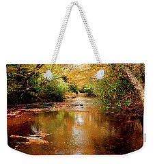 Weekender Tote Bag featuring the photograph Boone Fork Stream by Meta Gatschenberger