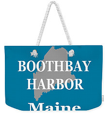 Weekender Tote Bag featuring the photograph Boothbay Harbor Maine State City And Town Pride  by Keith Webber Jr