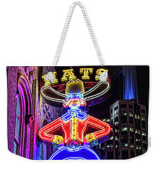 Boots And Hat Neon Sign Weekender Tote Bag