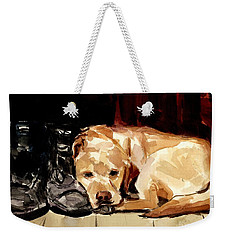 Boots Weekender Tote Bag by Molly Poole
