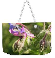 Borage Flowers Weekender Tote Bag by MM Anderson