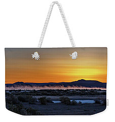 Weekender Tote Bag featuring the photograph Borax Lake At Sunrise by Cat Connor