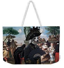 Border Collie Art Canvas Print - The Minuet Weekender Tote Bag