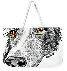 Border Collie Dog Colored Pencil Weekender Tote Bag