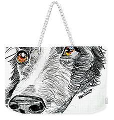 Border Collie Dog Colored Pencil Weekender Tote Bag