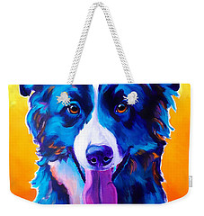 Border Collie - Jinx Weekender Tote Bag