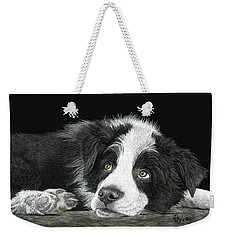 Border Collie Pup For Limited Items Weekender Tote Bag
