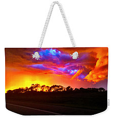 Weekender Tote Bag featuring the photograph Borderline by Zafer Gurel