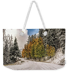 Boreas Pass Road Aspen And Snow Weekender Tote Bag