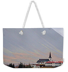 Borgarneskirkja Iceland  6259 Weekender Tote Bag