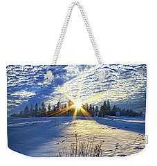 Weekender Tote Bag featuring the photograph Born As We Are by Phil Koch