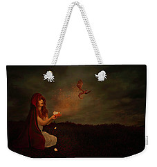 Weekender Tote Bag featuring the digital art Born Of Magic by Nicole Wilde