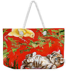 Weekender Tote Bag featuring the painting Born To Be Wild by Hiroko Sakai