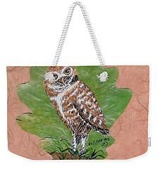 Borrowing Owl Weekender Tote Bag