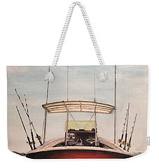 Weekender Tote Bag featuring the painting Helen's Boat by Stan Tenney