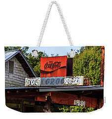 Weekender Tote Bag featuring the photograph Bo's Grocery by Doug Camara