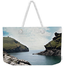 Weekender Tote Bag featuring the photograph Boscastle Cornwall by Rebecca Cozart