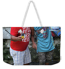 Weekender Tote Bag featuring the photograph Bosen Bros by Jez C Self