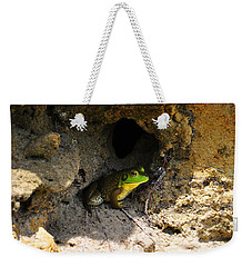 Weekender Tote Bag featuring the photograph Boss Frog by Al Powell Photography USA