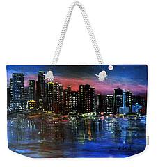 Boston At Night Weekender Tote Bag