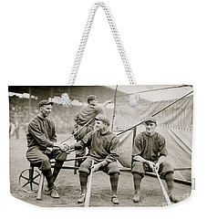 Boston Baseball Players   Gowdy, Tyler, Connolly Weekender Tote Bag by American School
