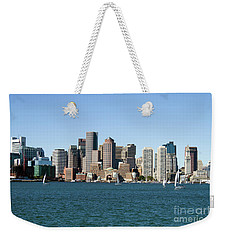 Boston City Skyline Weekender Tote Bag