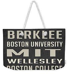 Boston Collegetown Weekender Tote Bag by Edward Fielding