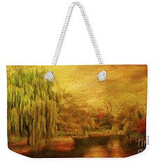 Boston Common In Autumn Weekender Tote Bag by Liz Leyden