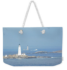 Boston Harbor Lighthouses Weekender Tote Bag
