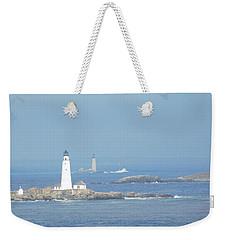 Boston Harbor Lighthouses Weekender Tote Bag