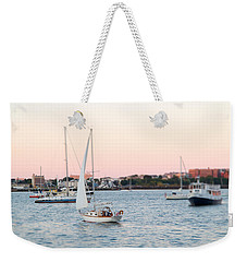 Boston Harbor View Weekender Tote Bag