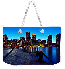 Boston Harbor Walk Weekender Tote Bag by Rick Berk