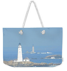 Boston Harbors Lighthouses Weekender Tote Bag