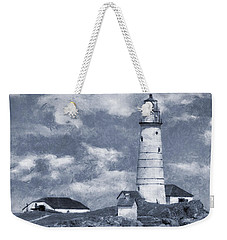 Weekender Tote Bag featuring the photograph Boston Light  by Ian Mitchell