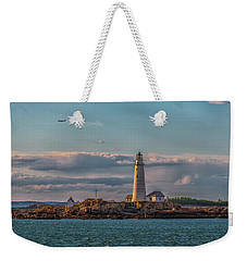 Boston Lighthouse Sunset Weekender Tote Bag
