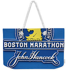 Weekender Tote Bag featuring the photograph Boston Marathon - Boston Athletic Association by Joann Vitali