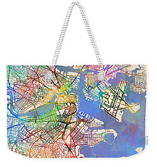 Boston Massachusetts Street Map Extended View Weekender Tote Bag