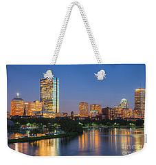 Boston Night Skyline II Weekender Tote Bag by Clarence Holmes