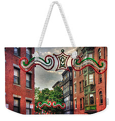 Weekender Tote Bag featuring the photograph Boston North End Saint Anthony's Feast by Joann Vitali
